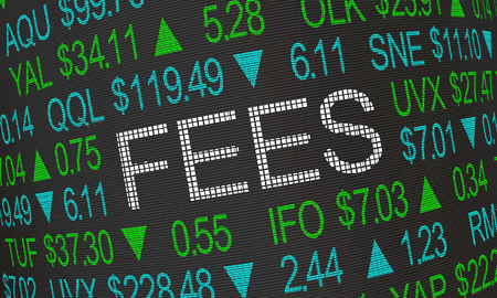 Fees Costs Stock Market Trades Word 3d Illustration