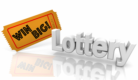 Lottery Lotto Win Big Contest Ticket 3d Illustration 스톡 콘텐츠