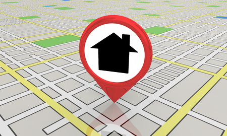 House Home Symbol Map Pin Location 3d Illustration