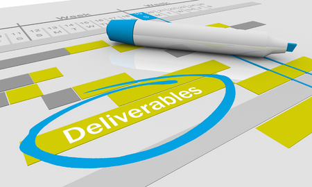 Deliverables Project To Dos Responsibilities Tracking Chart 3d Illustration