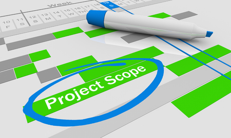 Project Scope Timeline Tracking Chart 3d Illustration