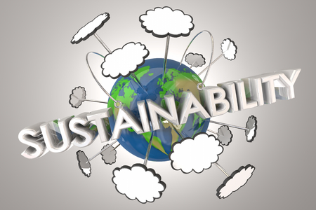 Sustainability Renewable Resources Earth 3d Illustration