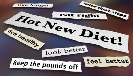 Hot New Diet Lose Weight Headlines 3d Illustration Stock Photo