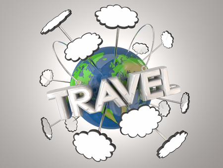 Travel Tourism Adventure Exploration Earth 3d Illustration