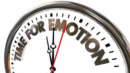 Time for Emotion Feelings Expression Clock Words 3d Illustration