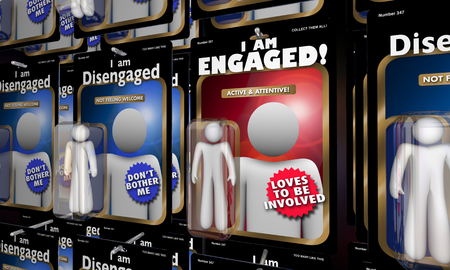 I Am Engaged Person Vs Disengaged People 3d Illustration