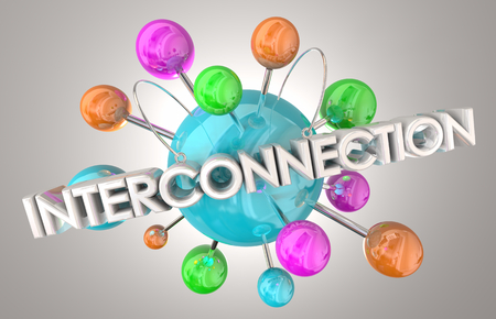 Interconnection Join Connect Link Network 3d Illustration