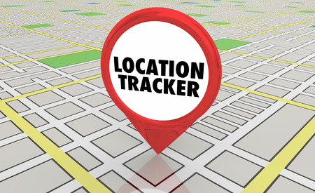 Location Tracker Geolocate Map Pin Location 3d Illustration 写真素材