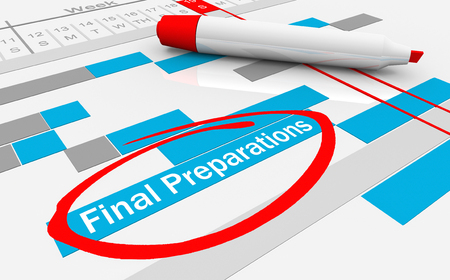 Final Preparations Gantt Chart Last Steps Pre Launch 3d Illustration Stok Fotoğraf - 119477224