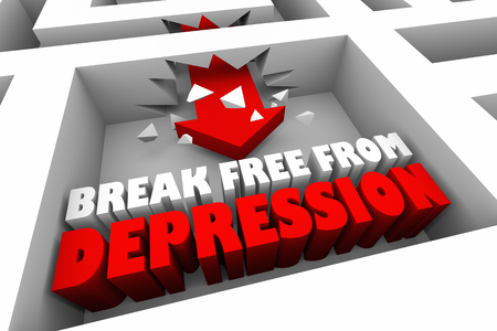 Break Free From Depression Sadness 3d Illustration