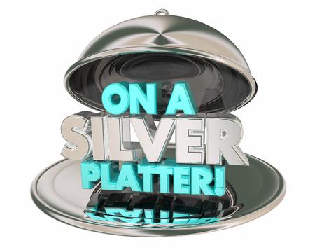 On a Silver Platter Plate Delivered to You 3d Illustration