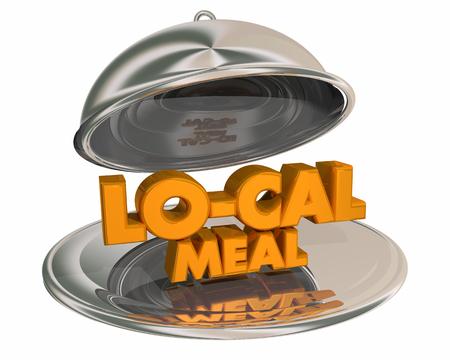 Lo-Cal Menu Diet Eat Less Calories Platter 3d Illustration