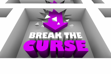 Break the Curse Spell Maze Arrow 3d Illustration