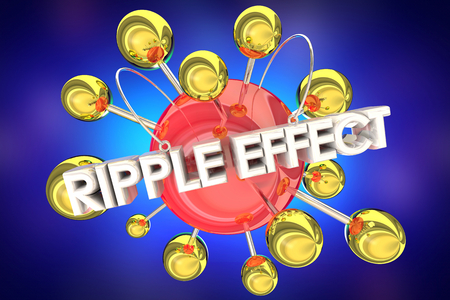 Ripple Effect Expand Extend Impact 3d Illustration