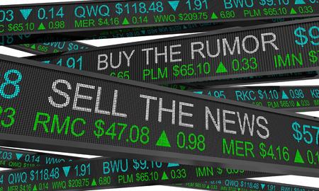 Buy the Rumor Sell on News Stock Market Speculation 3d Illustration