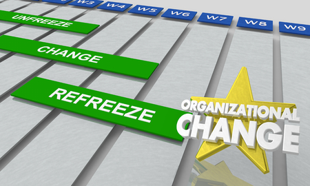 Organizational Change Gantt Chart 3d Illustration