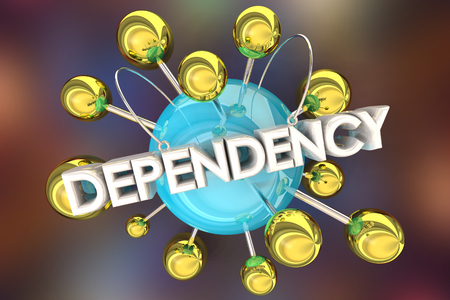Dependency Reliance On Network 3d Illustration