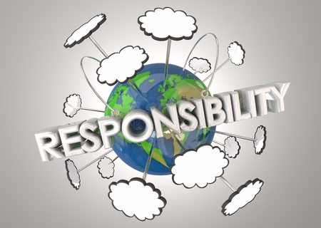 Responsibility Protect Planet Earth Resources 3d Illustration 版權商用圖片