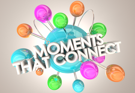 Moments That Connect Us Together Connected Spheres 3d Illustration