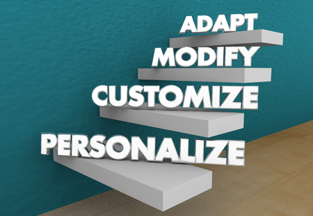 Adapt Modify Customize Personalize Special Order 3d Illustration Banque d'images - 120435395