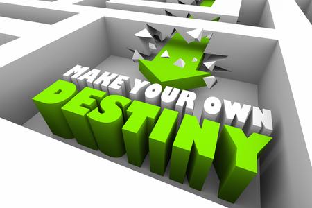 Make Your Own Desitny Choose Fate Maze 3d Illustration Stok Fotoğraf - 120435666