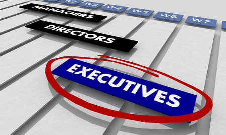 Executives Directors Managers Project Tracking Chart 3d Illustration
