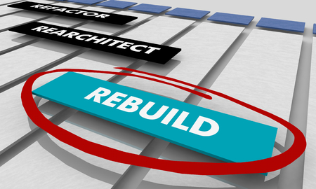 Refactor Rearchitect Rebuild Project Tracking Chart 3d Illustration Stock Photo