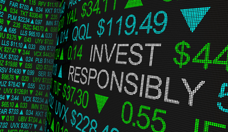 Invest Responsibly Ethical Investing Moral Stock Investment 3d Illustration Stock Photo