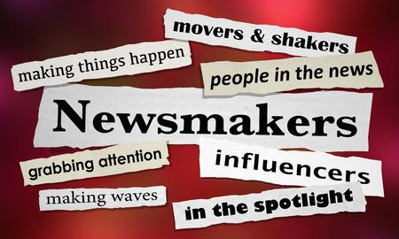 Newsmakers Movers Shakers News Headlines 3d Illustration 版權商用圖片