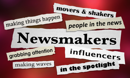 Newsmakers Movers Shakers News Headlines 3d Illustration Banco de Imagens