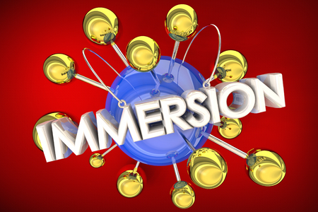 Immersion Join Participate Total Immersive Connected Spheres 3d Illustration