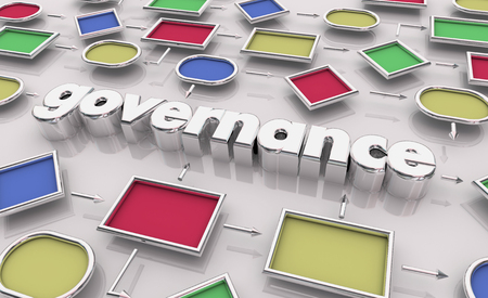 Governance Oversight Management Process Map Diagram 3d Illustration