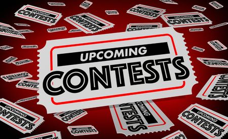Upcoming Contests Drawings Lotteries Tickets 3d Illustration