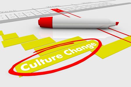 Culture Change Evolve Organization Gantt Chart 3d Illustration