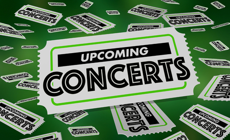 Upcoming Concerts Performances Tickets 3d Illustration
