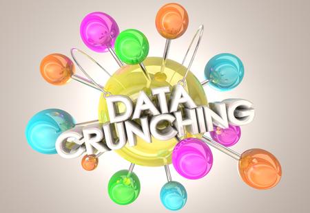 Data Crunching Compute Numbers Information 3d Illustration Reklamní fotografie