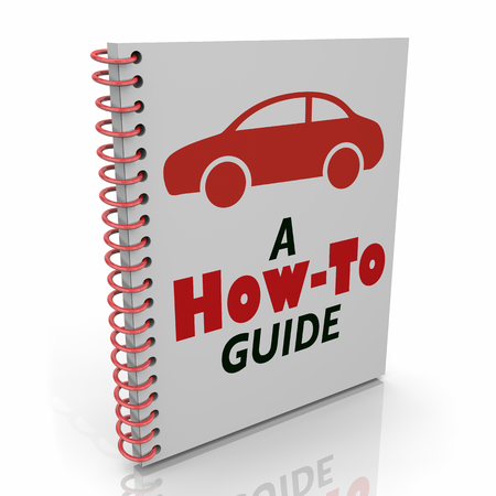 Auto User Manual How to Guide Car Vehicle Instructions Repair 3d Illustration Archivio Fotografico