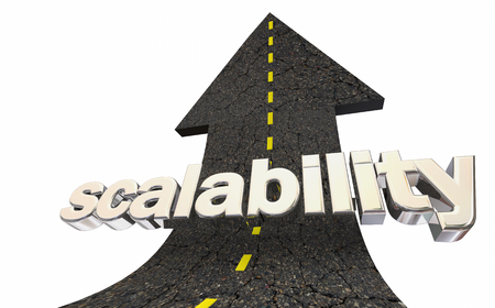 Scalability Expand Grow Service Product Road Arrow 3d Illustration 版權商用圖片