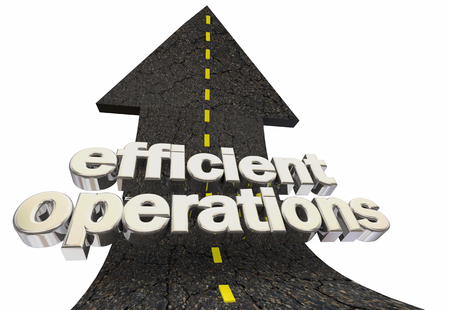 Efficient Operations Productive Business Road Arrow 3d Illustration