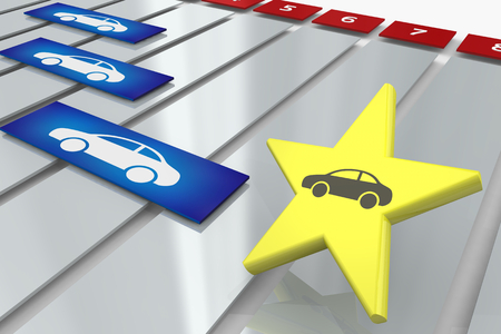 Car Auto Vehicle Process Gantt Project Chart 3d Illustration Standard-Bild - 121407937