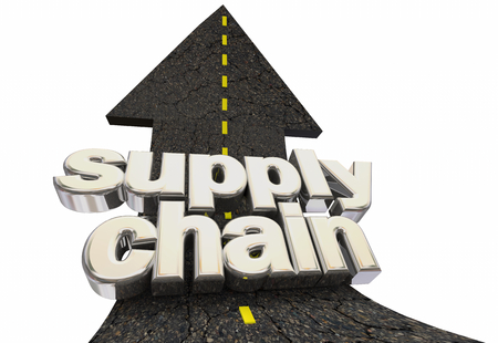 Supply Chain Vendor Supplier Delivery Road Arrow 3d Illustration