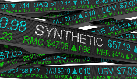 Synthetic Investment Simulated Returns Stock Market Prices 3d Illustration