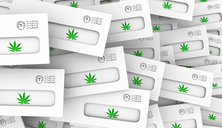 Marijuana Pot Weed Cannabis Direct Mail Special Offer 3d Illustration Stock Photo