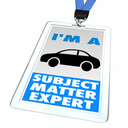 Car Vehicle Automobile Im a Subject Matter Expert Badge 3d Illustration