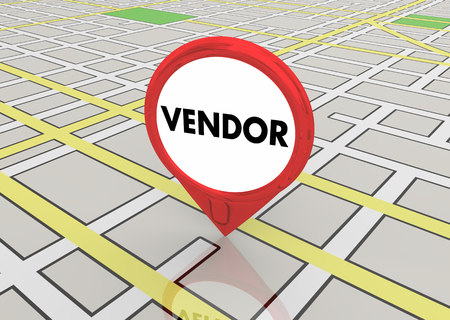 Vendor Supplier Map Pin Business Company Location 3d Illustration