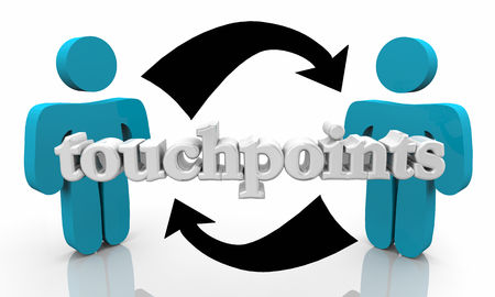 Touchpoints People Customers Communication Connecting Arrows 3d Illustration Stock Illustration - 121780790