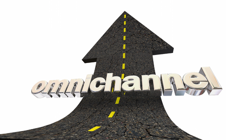 Omnichannel Cross Content Delivery Strategy Road Arrow 3d Illustration