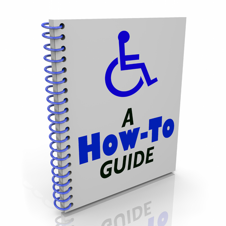 Wheelchair Disabled Person Symbol Disability How to Guide User Instruction Manual Book 3d Illustration Stok Fotoğraf