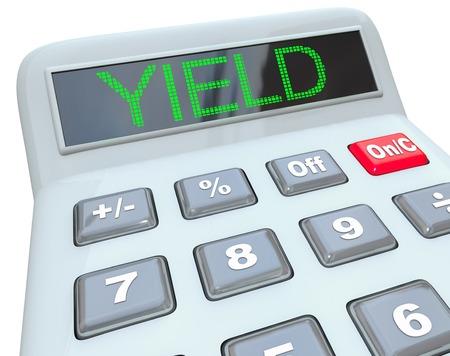 Yield Calculator Asset Investment Cash Value 3d Illustration