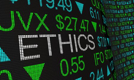 Ethics Business Morals Responsibility Stock Market Investing 3d Illustration Standard-Bild - 123497309